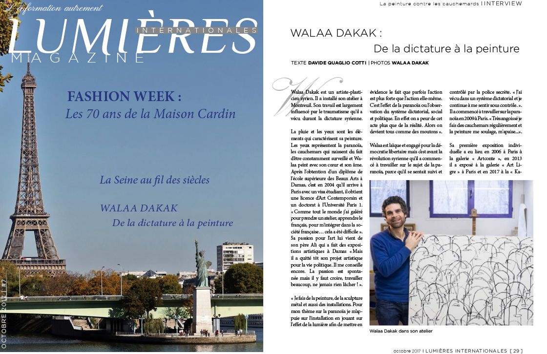 Walaa Dakak - Lumières Internationales magazine